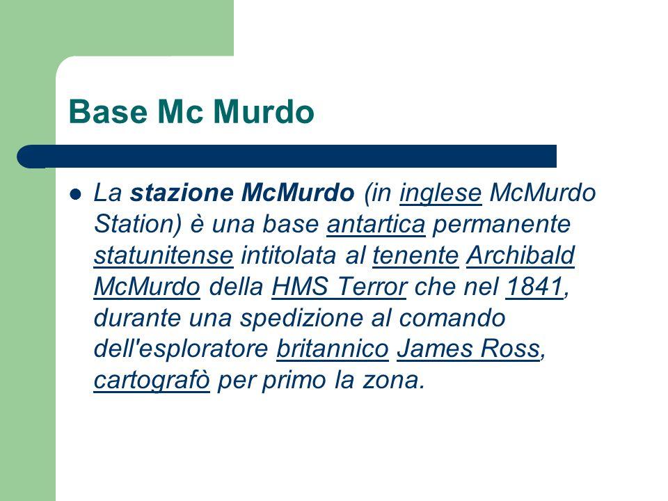 Base Mc Murdo