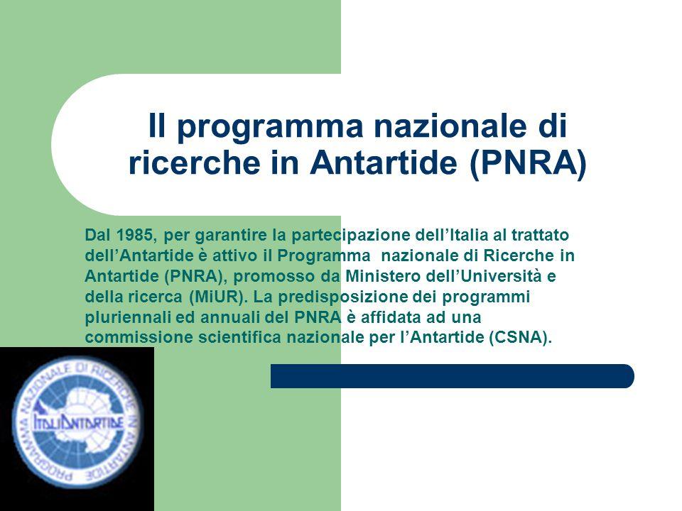 Il programma nazionale di ricerche in Antartide (PNRA)