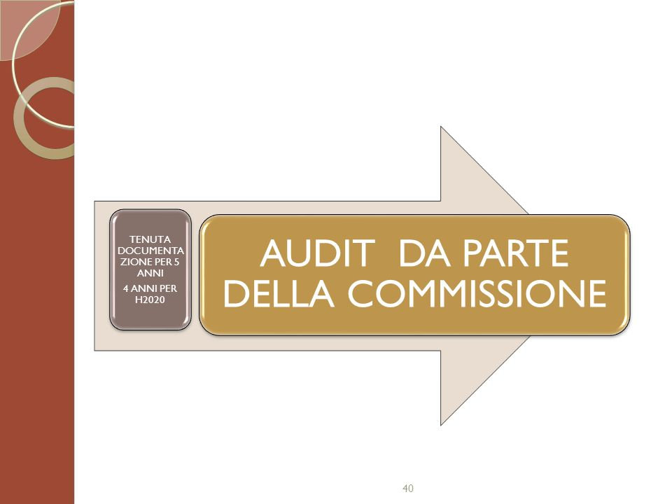 AUDIT DA PARTE DELLA COMMISSIONE