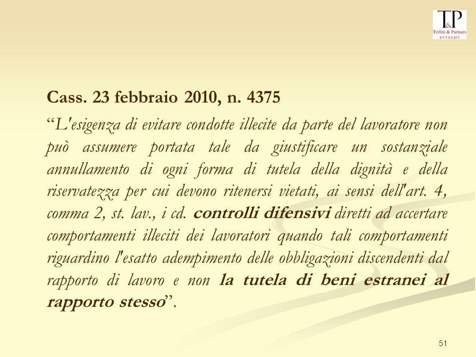 Cass. 23 febbraio 2010, n. 4375