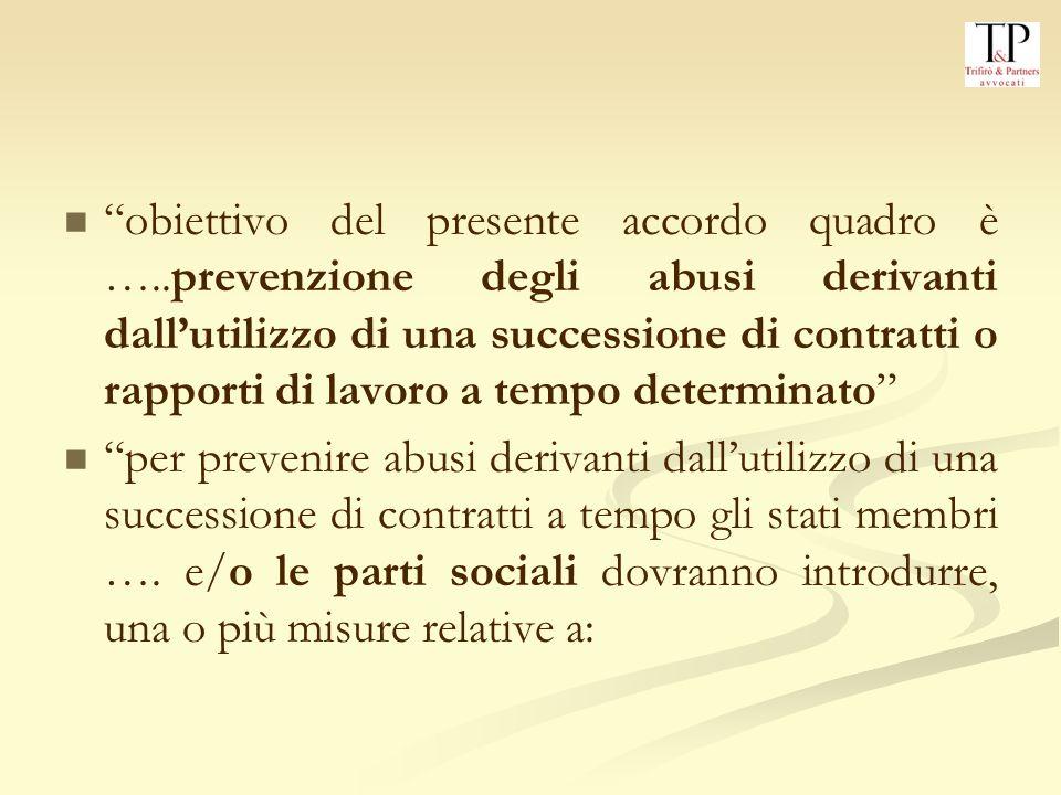 obiettivo del presente accordo quadro è …