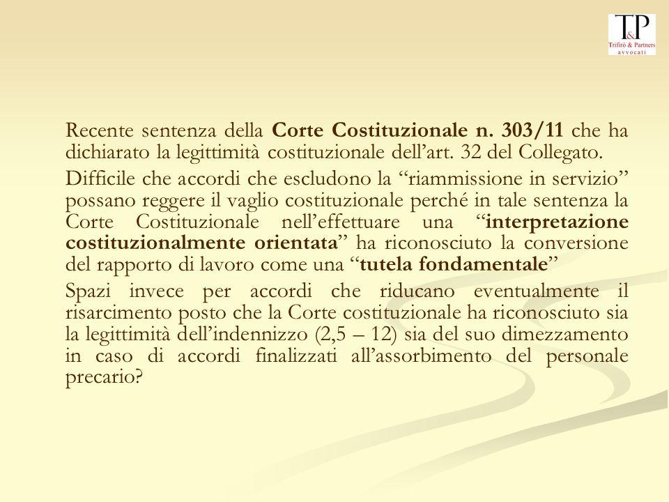 Recente sentenza della Corte Costituzionale n