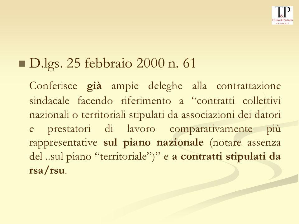 D.lgs. 25 febbraio 2000 n. 61