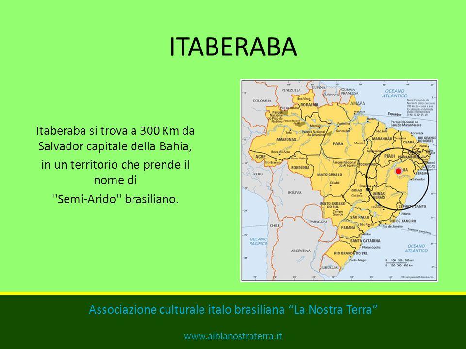 ITABERABA Itaberaba si trova a 300 Km da Salvador capitale della Bahia, in un territorio che prende il nome di.