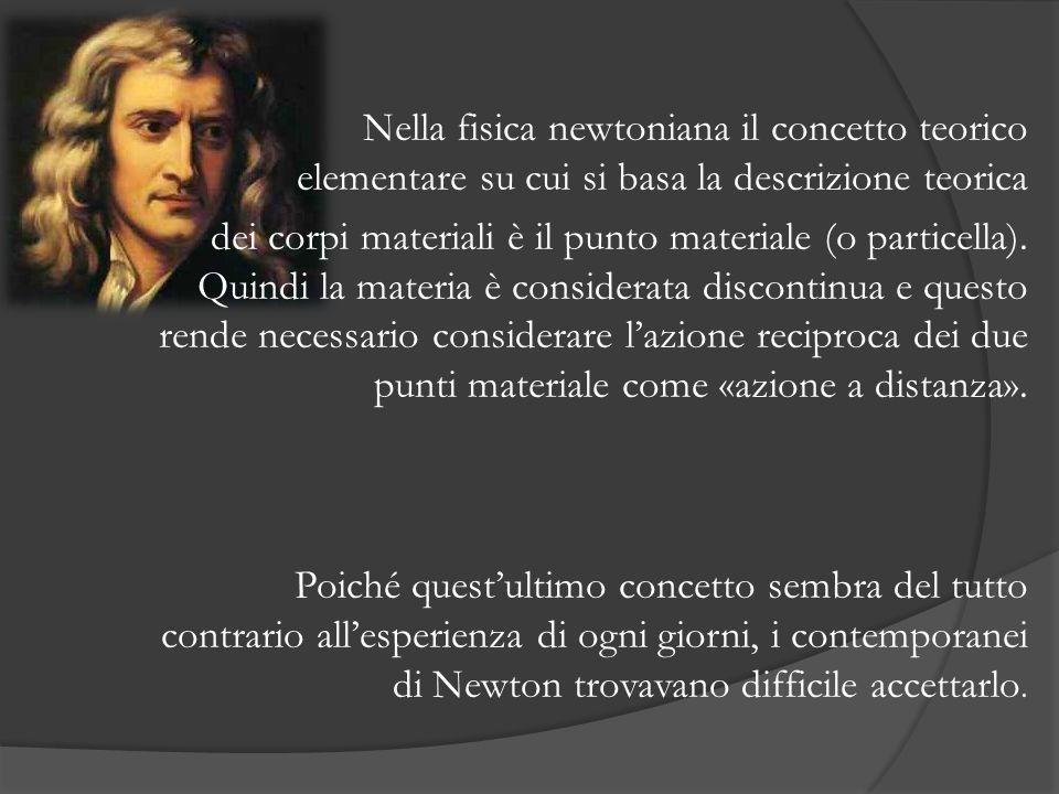 Nella fisica newtoniana il concetto teorico elementare su cui si basa la descrizione teorica dei corpi materiali è il punto materiale (o particella).