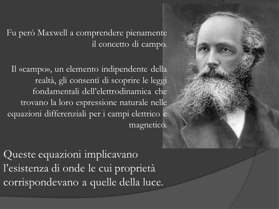 Fu però Maxwell a comprendere pienamente il concetto di campo