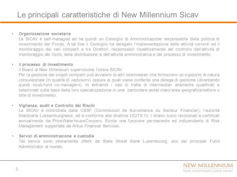 Le principali caratteristiche di New Millennium Sicav