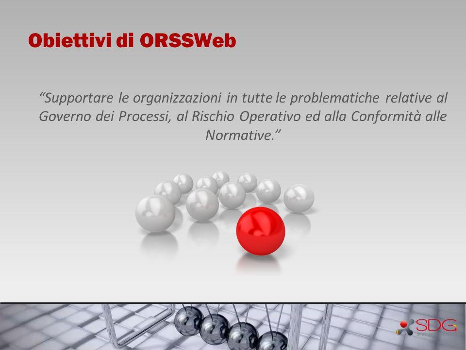 Obiettivi di ORSSWeb