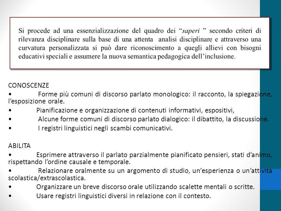 • I registri linguistici negli scambi comunicativi. ABILITA