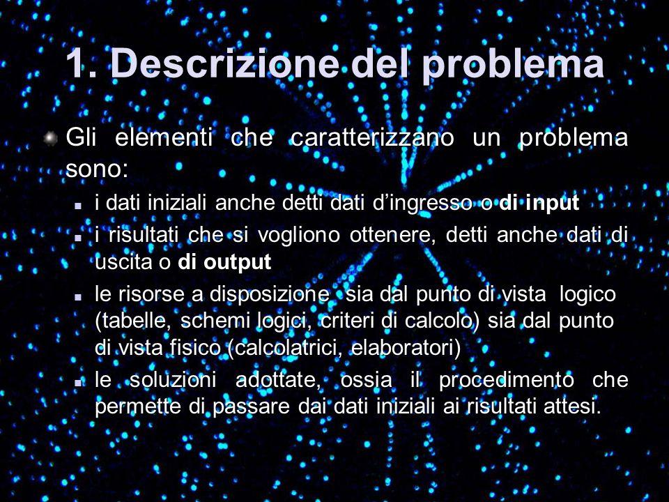 1. Descrizione del problema