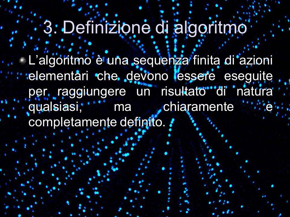 3. Definizione di algoritmo