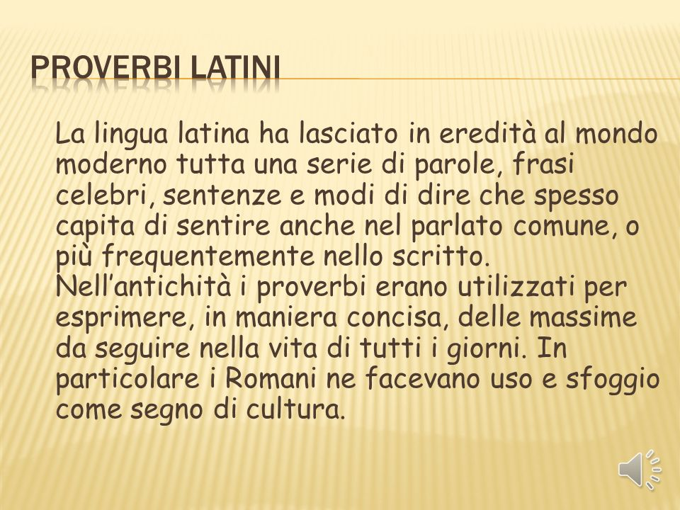 Proverbi latini