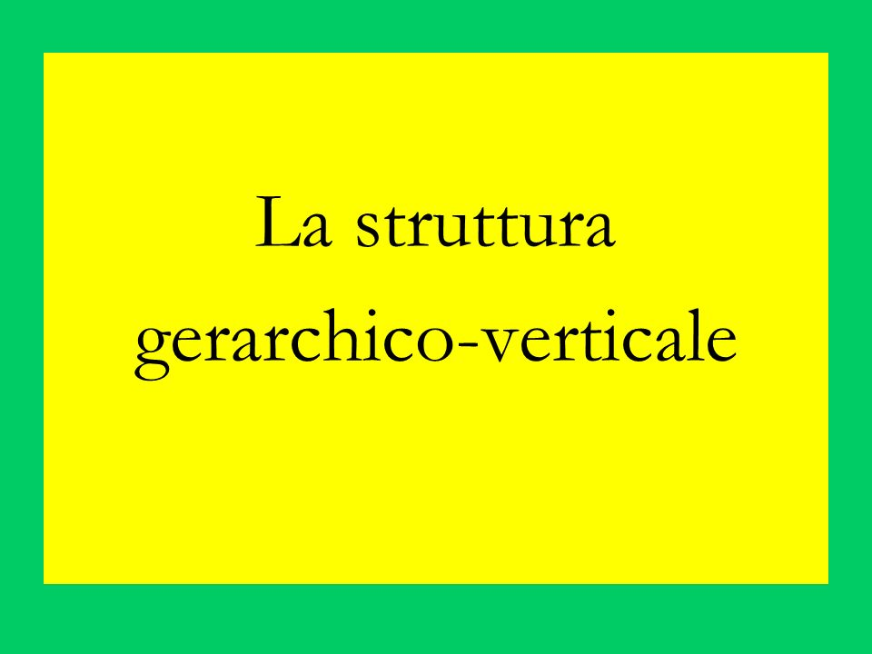 gerarchico-verticale