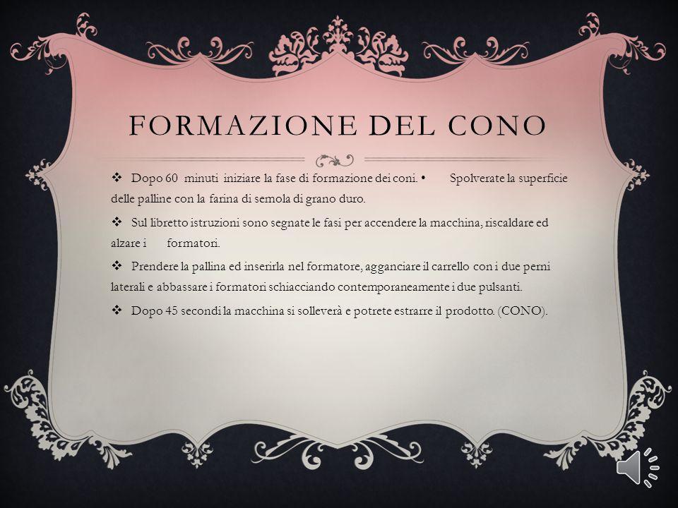 FORMAZIONE DEL CONO