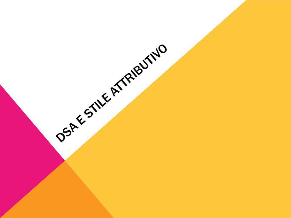 DSA E STILE ATTRIBUTIVO