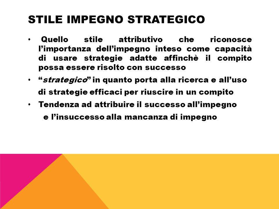 Stile impegno strategico
