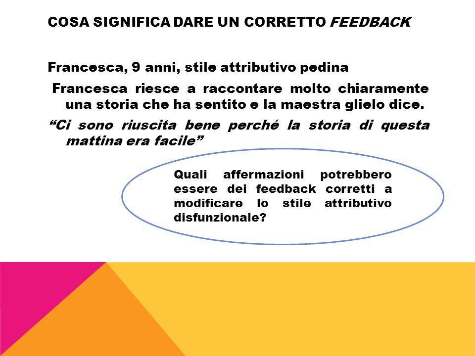 Cosa significa dare un corretto feedback