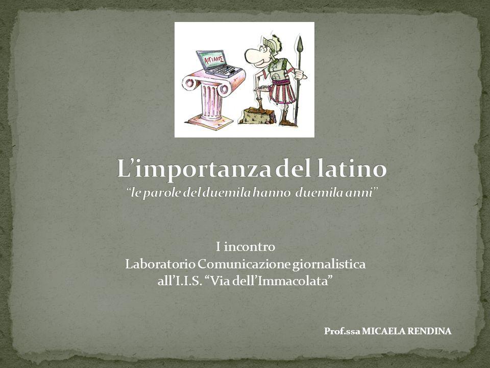 L'importanza del latino le parole del duemila hanno duemila anni
