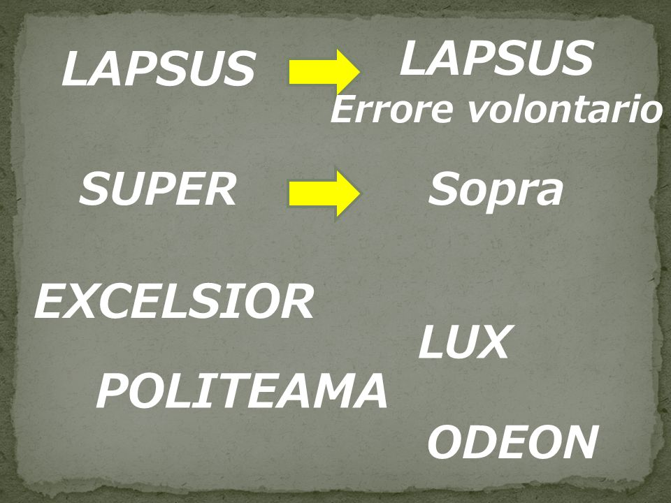 LAPSUS LAPSUS EXCELSIOR POLITEAMA