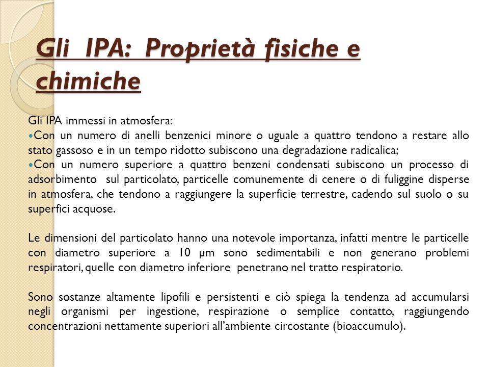 Gli IPA: Proprietà fisiche e chimiche