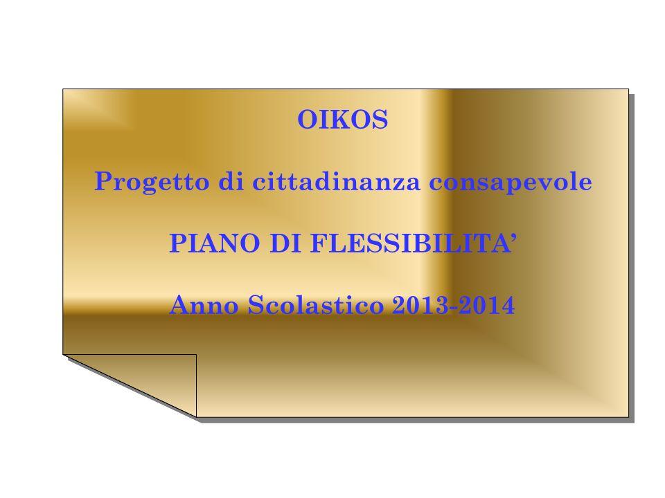 Progetto di cittadinanza consapevole PIANO DI FLESSIBILITA'