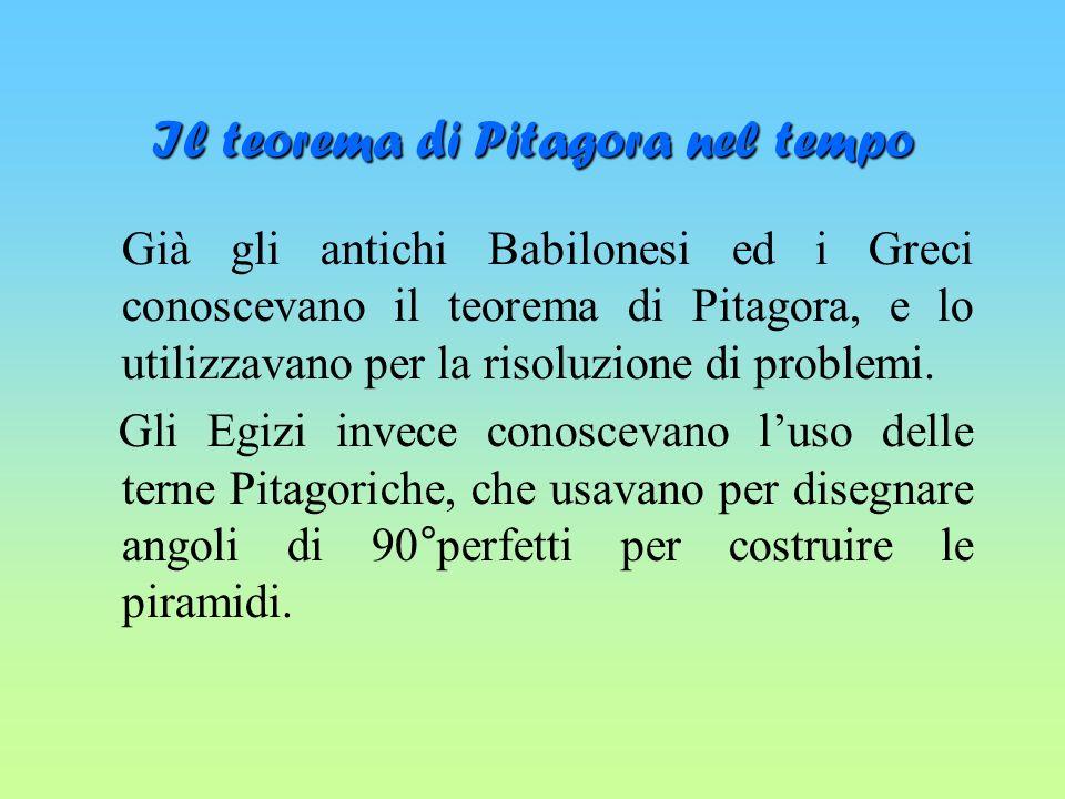 Il teorema di Pitagora nel tempo