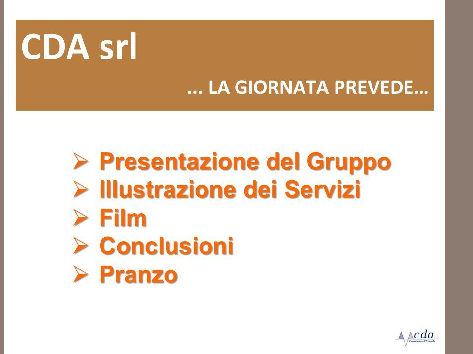 CDA srl Presentazione del Gruppo Illustrazione dei Servizi Film