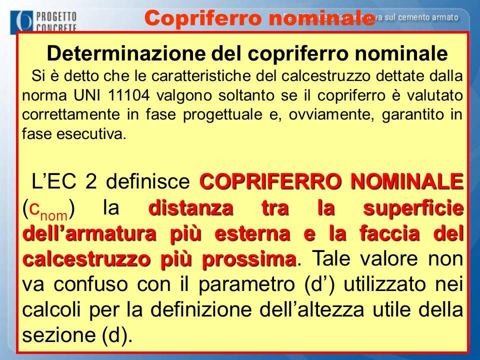 Determinazione del copriferro nominale