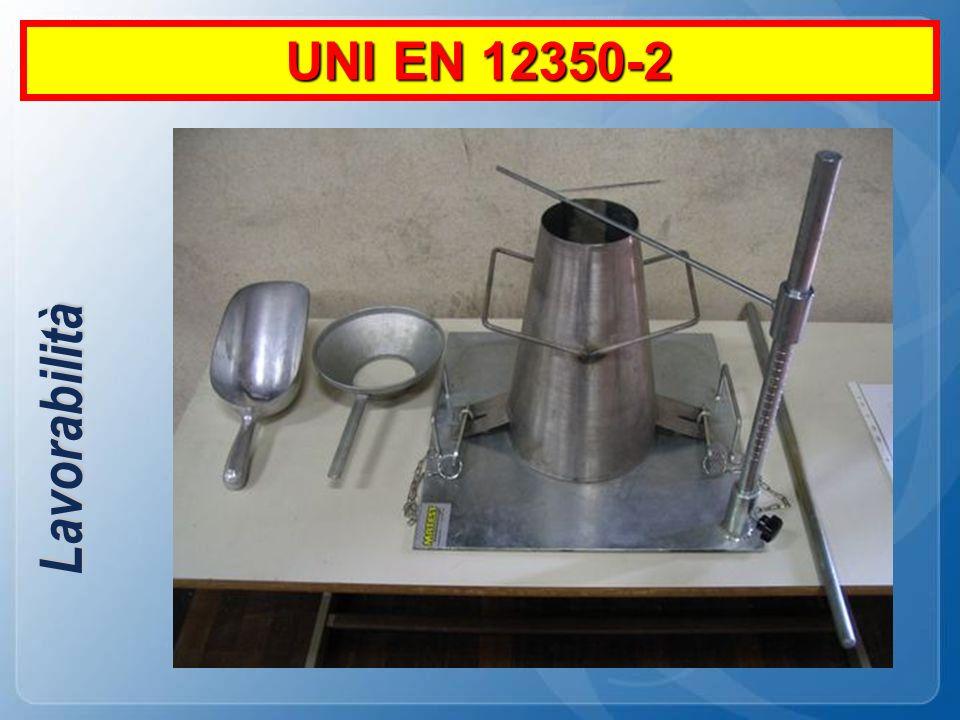 UNI EN 12350-2 Lavorabilità