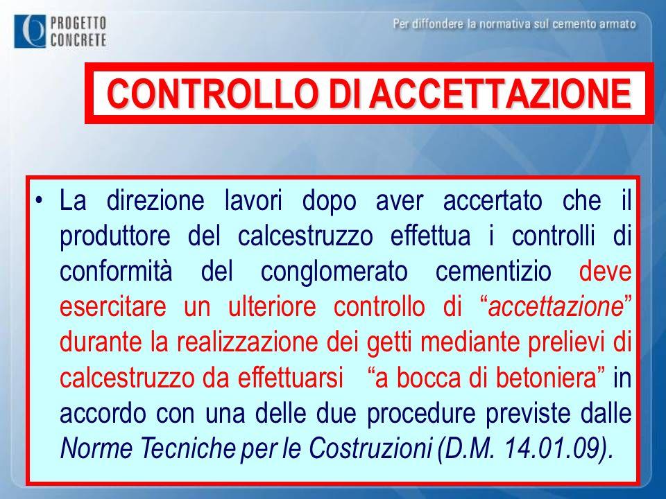 CONTROLLO DI ACCETTAZIONE