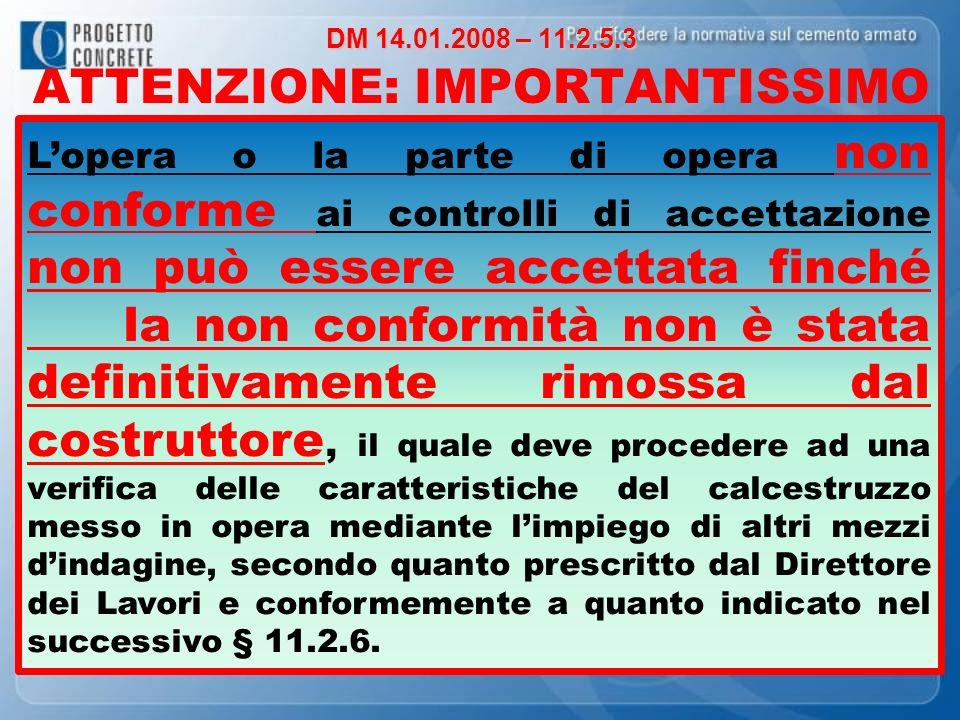 DM 14.01.2008 – 11.2.5.3 ATTENZIONE: IMPORTANTISSIMO