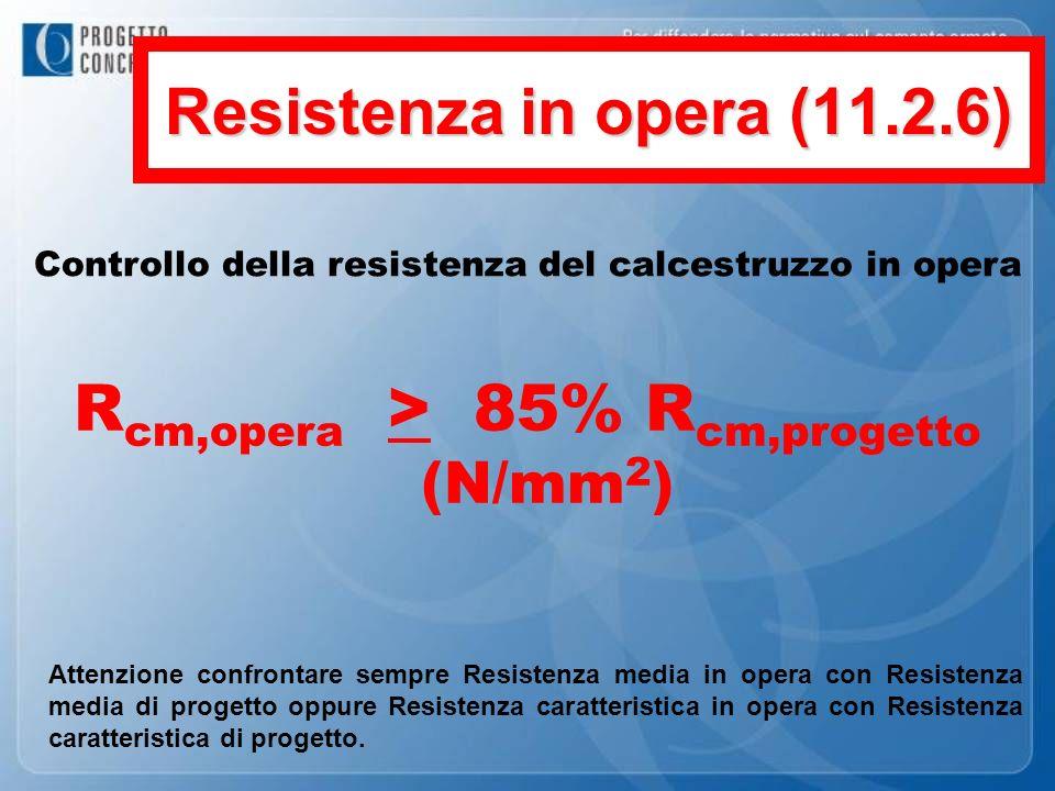 Rcm,opera > 85% Rcm,progetto