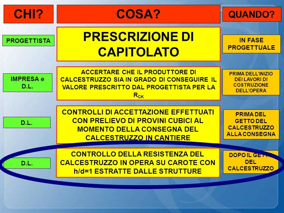 CHI COSA PRESCRIZIONE DI CAPITOLATO