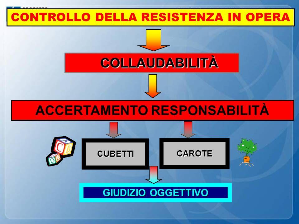 CONTROLLO DELLA RESISTENZA IN OPERA ACCERTAMENTO RESPONSABILITÀ