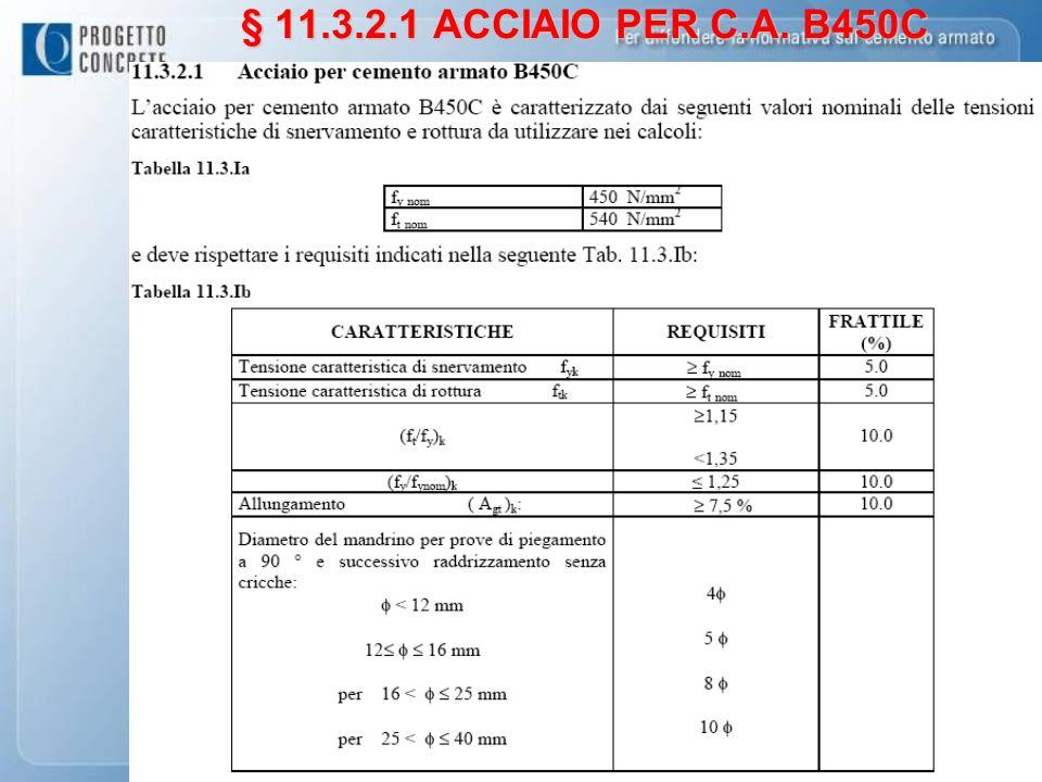 § 11.3.2.1 ACCIAIO PER C.A. B450C