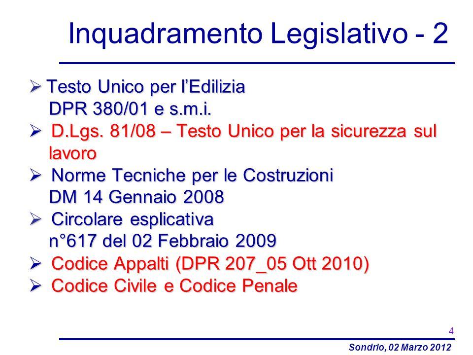 Inquadramento Legislativo - 2