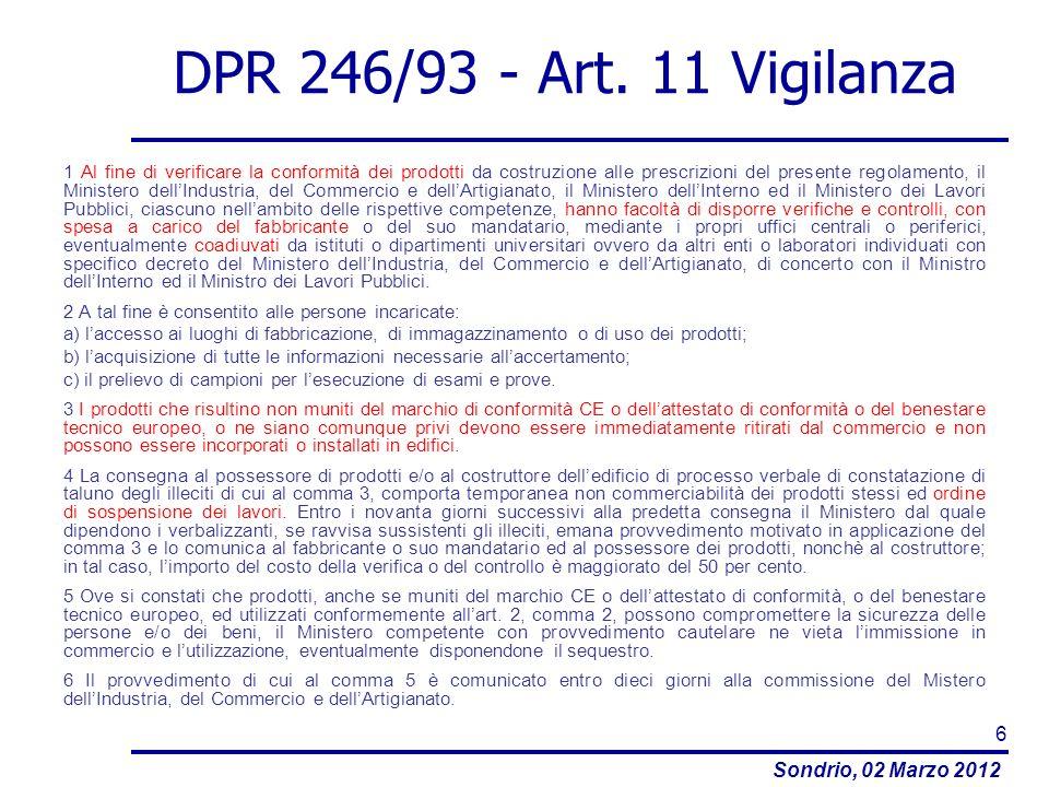 DPR 246/93 - Art. 11 Vigilanza
