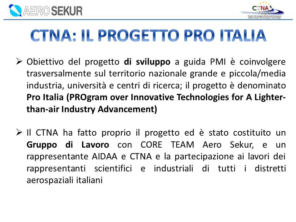 CTNA: IL PROGETTO PRO ITALIA