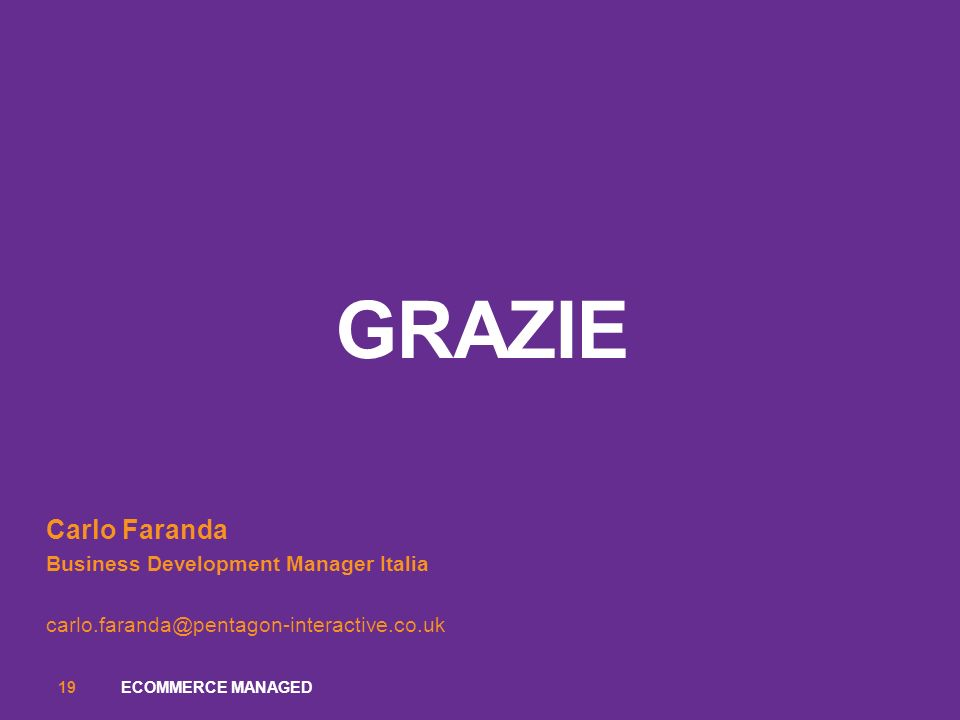 GRazie Carlo Faranda Business Development Manager Italia