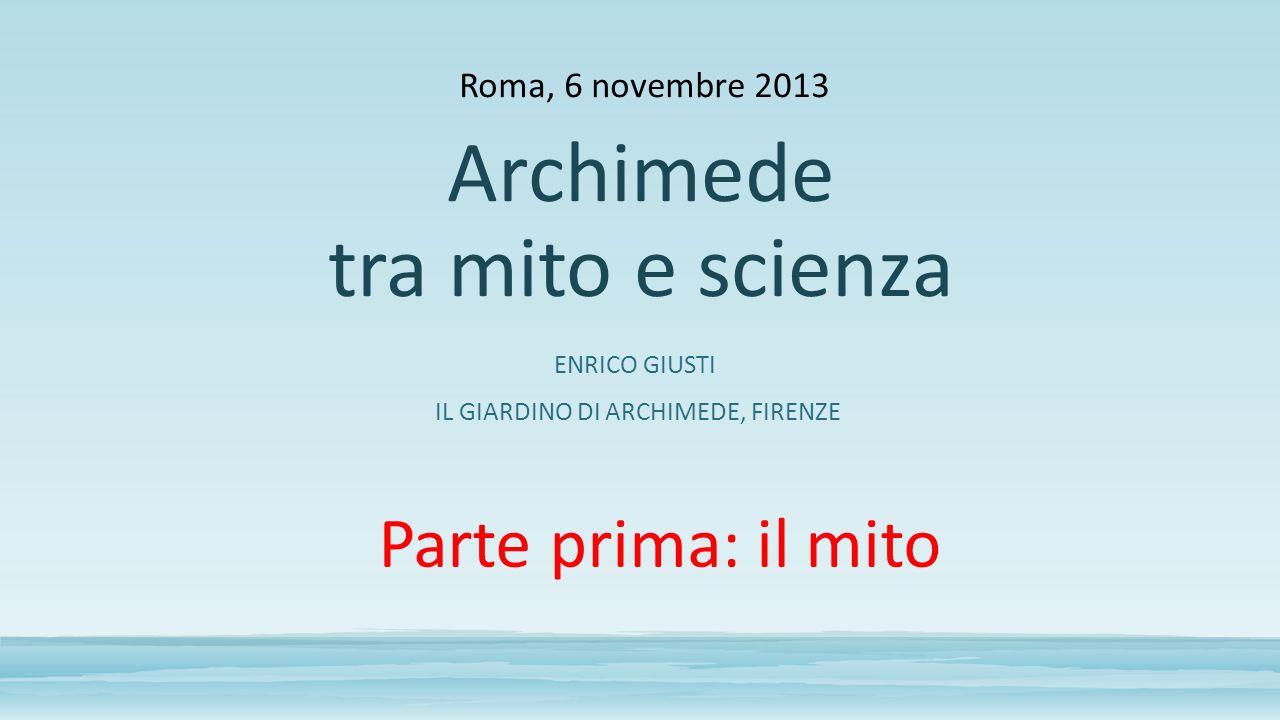 Archimede tra mito e scienza