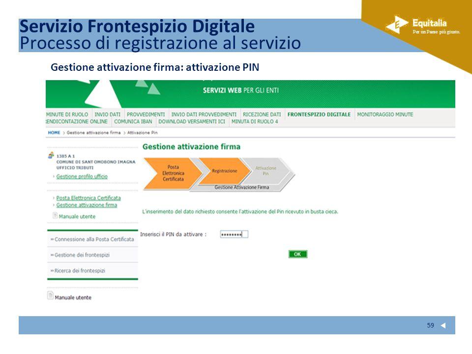 Servizio Frontespizio Digitale Processo di registrazione al servizio