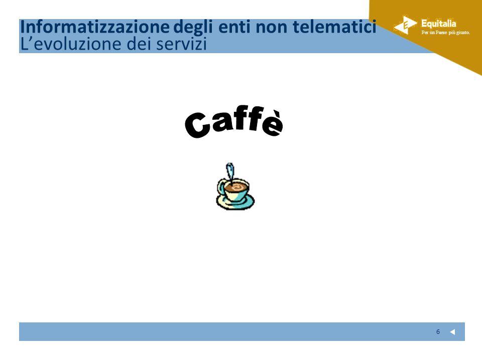 Caffè Informatizzazione degli enti non telematici