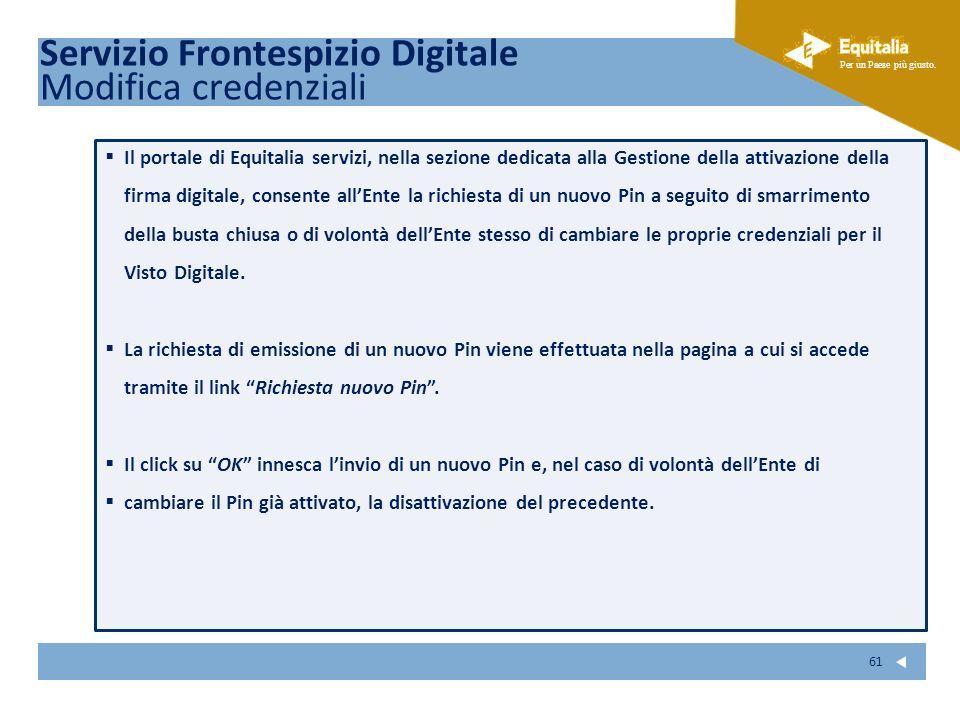 Servizio Frontespizio Digitale Modifica credenziali