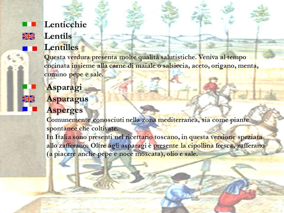 Lenticchie Lentils Lentilles Asparagi Asparagus Asperges