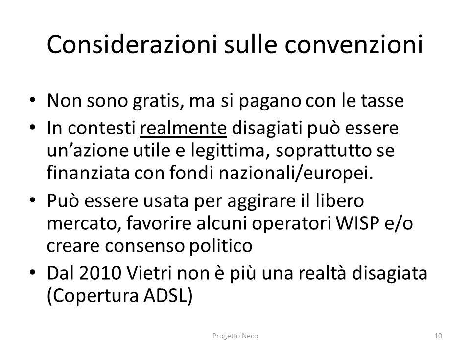 Considerazioni sulle convenzioni