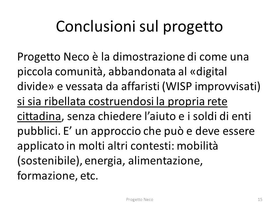 Conclusioni sul progetto
