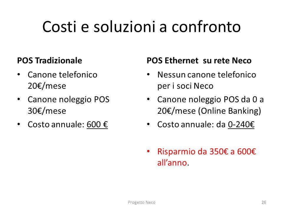 Costi e soluzioni a confronto