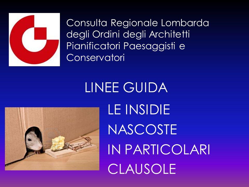 LINEE GUIDA LE INSIDIE NASCOSTE IN PARTICOLARI CLAUSOLE
