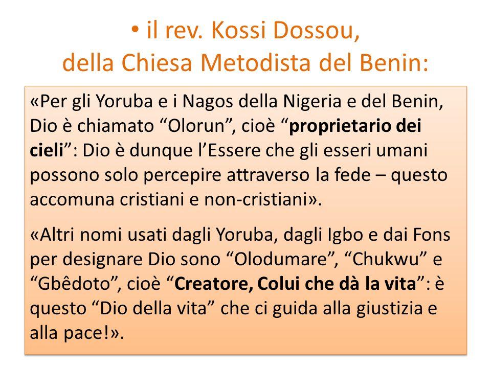 il rev. Kossi Dossou, della Chiesa Metodista del Benin: