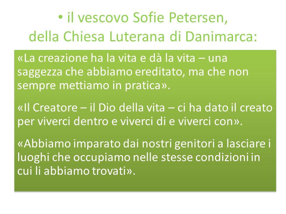 il vescovo Sofie Petersen, della Chiesa Luterana di Danimarca: